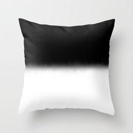 Black and White Split Fade Inverse Throw Pillow