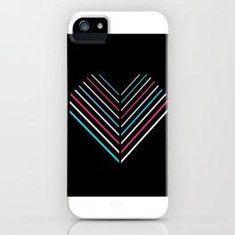 Transcend Neon Heart iPhone Case