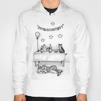depression Hoodies featuring Depression Party by Panic Volkushka