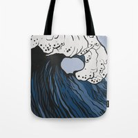 anxiety Tote Bags featuring Anxiety by Ksenia Palfy