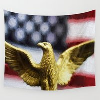 america Wall Tapestries featuring America by ThePhotoGuyDarren