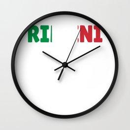 Rimini Italy flag holiday gift Wall Clock
