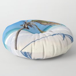Vacay Palm & Beach Floor Pillow