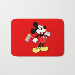 Mickey Mouse - Gay Pride - Gay Days - Pop Art Bath Mat