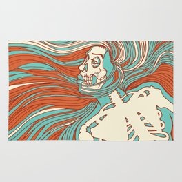 Skeleton Girl Rug