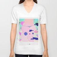 internet V-neck T-shirts featuring internet by Alba Blázquez