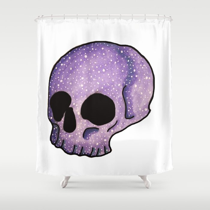 Skull Of The Universe Shower Curtain By Samanthaeg