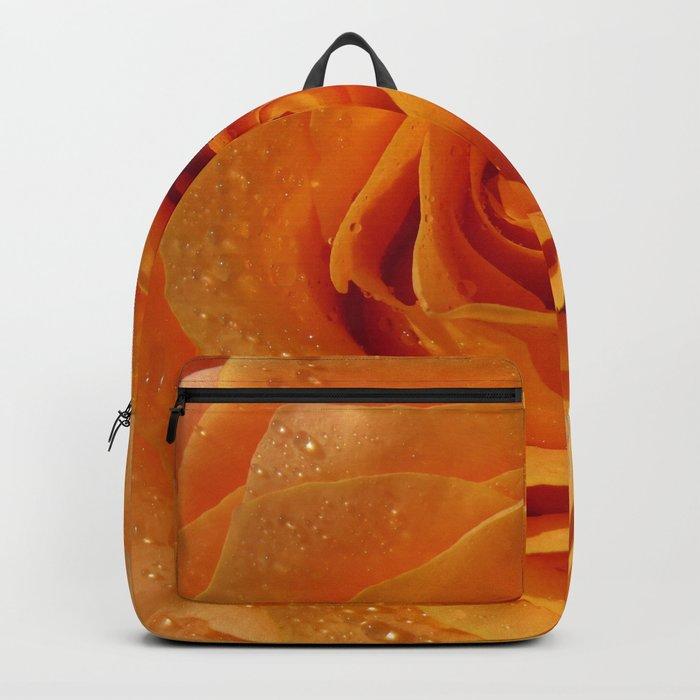 Gold Rose Bud- Orange Roses and flowers Backpack