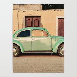 Vintage Beetle (Color) Poster