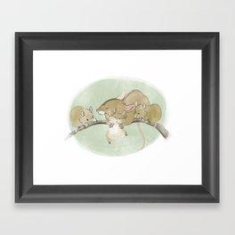 Mouse Family  Framed Art Print