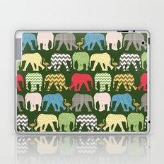 baby elephants and flamingos green Laptop & iPad Skin