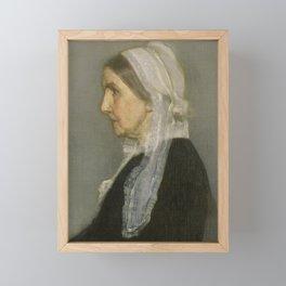 James Abbott Whistler - Whistler's Mother Framed Mini Art Print