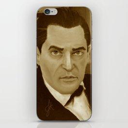 J. Brett as Sherlock Holmes Sepia iPhone Skin