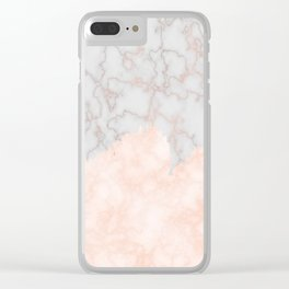 Rosette Marble Clear iPhone Case