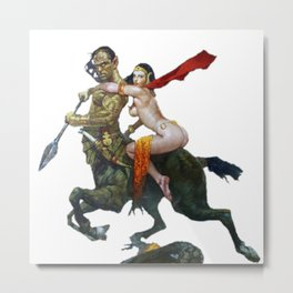 Mythical creatures battle collectibles Metal Print