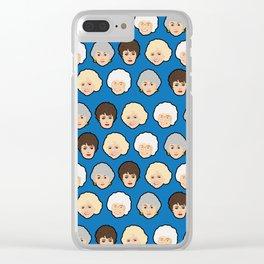 The Golden Girls Blue Pop Art Clear iPhone Case