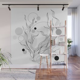 Digital Gray Vector of the Thrive Hopes! Wall Mural