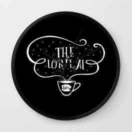 The Lorelai (white font) Gilmore girls inpsired Wall Clock