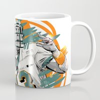 nfl Mugs featuring NFL Legends: Dan Marino - Miami Dolphins by Akyanyme