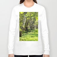 birch Long Sleeve T-shirts featuring birch alley by Kay Weber