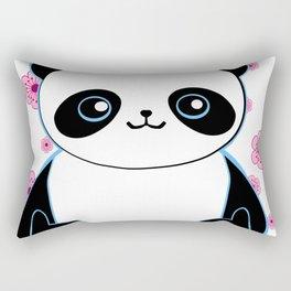 Pandacorn in a Field of Flowers Rectangular Pillow