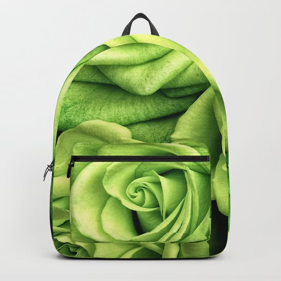 Green Roses Backpack