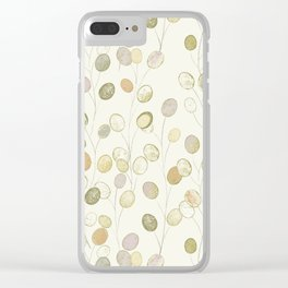 Honesty Flower Seed Heads in Pale Shades Clear iPhone Case