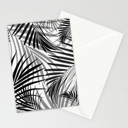 Black Palm Leaves Dream - Cali Summer Vibes #3 #tropical #decor #art #society6 Stationery Cards
