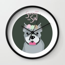 sweet as sin Wall Clock