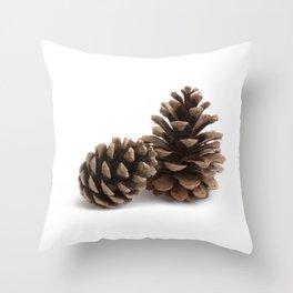 Two pinecones Throw Pillow