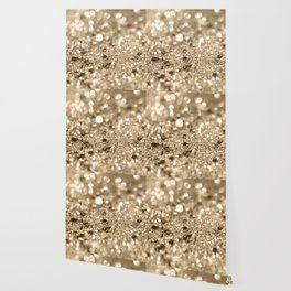 Champagne Gold Lady Glitter #1 #shiny #decor #art #society6 Wallpaper