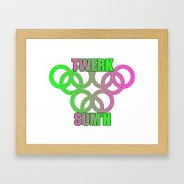 Twerk sum'n Framed Art Print