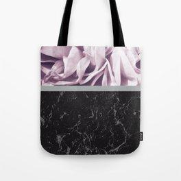 Light Purple Flower Meets Gray Black Marble #1 #decor #art #society6 Tote Bag