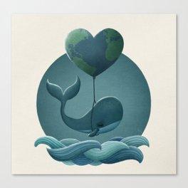 Do It Whale Canvas Print