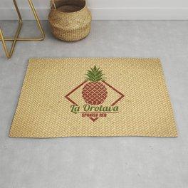 La Orotava Valley pineapple basket Rug