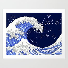 Great Blue Wave Art Print