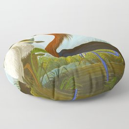 Purple Heron Floor Pillow