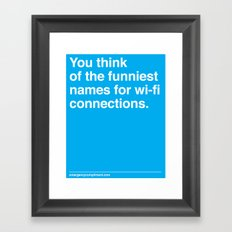 Wi-fi Connections Framed Art Print