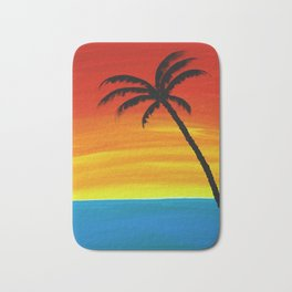 Sunset Palm Bath Mat