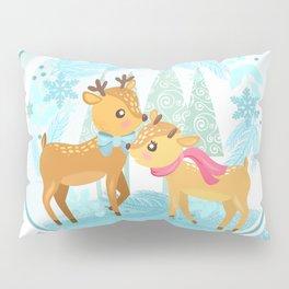 Winter Wonderland Reindeer Snow Globe Pillow Sham