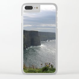 Sun Coming out over Cliffs of Moher Clear iPhone Case