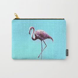 Lone Flamingo Carry-All Pouch