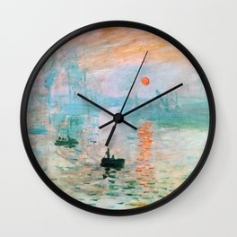 Claude Monet - Impression, Sunrise - Digital Remastered Edition Wall Clock