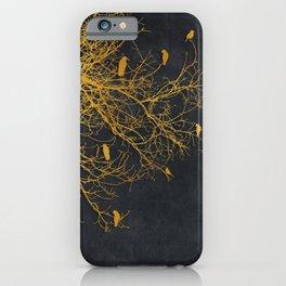 gold and black floral #goldblack #floral iPhone Case