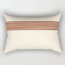Band in Rust Rectangular Pillow