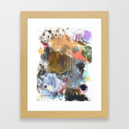 Colorful Abstract Mixed Media Art Painting by Michel Keck Framed Art Print