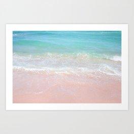 Beach shoreline | Waves Art Print