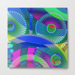 Bright Abstract Metal Print