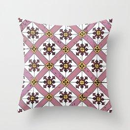 Floor Series: Thian Hock Keng Tiles 1 Throw Pillow