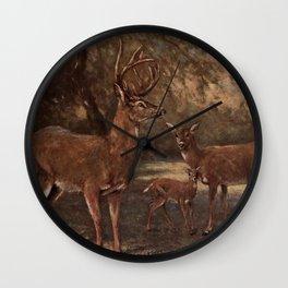 Vintage Virginia Deer Painting (1909) Wall Clock